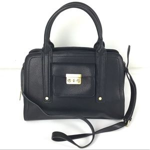 PHILLIP LIM Black Faux Leather Crossbody Purse Bag